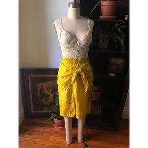 NWT -💯Silk High Waisted-Sarong Wrap Skirt